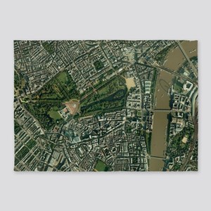 Central London, aerial view - 5'x7' Area Rug