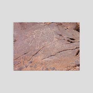 Elephant Petroglyph, Libya - 5'x7' Area Rug