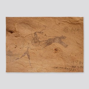 Pictograph of Horsedrawn Chariot, Libya - 5'x7' Ar