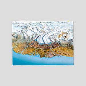 Retreating glacier - 5'x7' Area Rug