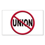 Anti-Union Rectangle Sticker