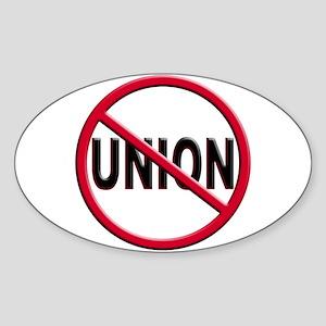 Anti-Union Oval Sticker