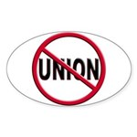 Anti-Union Oval Sticker