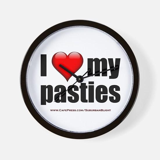 """Love My Pasties"" Wall Clock"