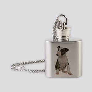 Bull Terrier Flask Necklace