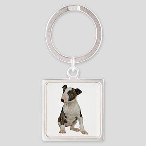 Bull Terrier Square Keychain