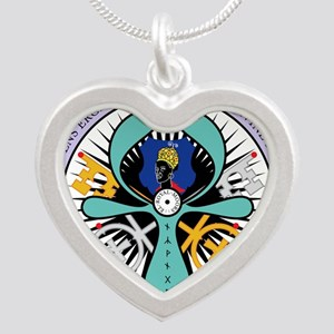 WE ROYAL MOOR Silver Heart Necklace