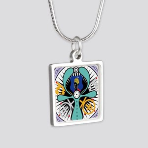 WE ROYAL MOOR Silver Square Necklace