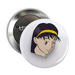 Manga Girl Button