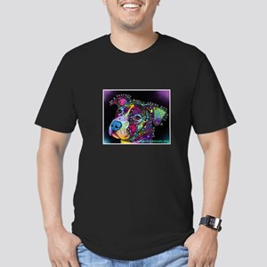 A Perfect World Men's Fitted T-Shirt (dark)
