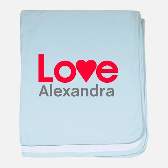 I Love Alexandra baby blanket