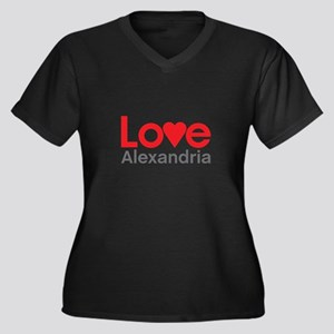 I Love Alexandria Plus Size T-Shirt