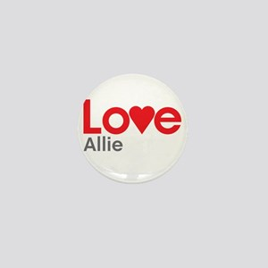 I Love Allie Mini Button