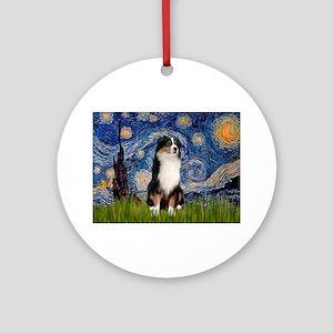 TILE-Starry-Aussie2 Ornament (Round)