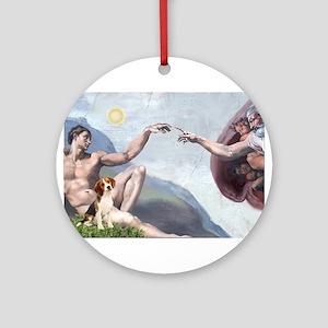 5.5x7.5-Creation-Beagle1 Ornament (Round)