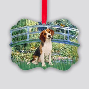 TILE-Bridge1-Beagle1 Picture Ornament