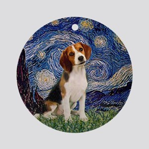 MP-Starry-Beagle1-nc Ornament (Round)