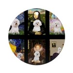 Bichon Masterpieces (A) Ornament (Round)
