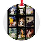 Bichon Masterpieces (A) Round Ornament