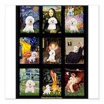 Bichon Masterpieces (A) Square Car Magnet 3