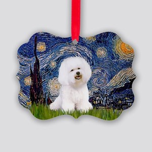 J-ORN-Starry-Bichon1 Picture Ornament