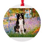 TILE-Garden-M-BordC1 Round Ornament