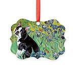 5.5x7.5-Irises-Boston4 Picture Ornament