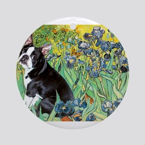 5.5x7.5-Irises-Boston4 Ornament (Round)