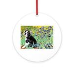 5.5x7.5-Irises-Boston4 Ornament (Round)
