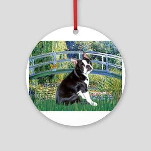Boston Terrier 4 - The Bridge Ornament (Round)