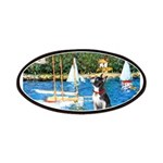 Boston Terrier Sailboats Patches