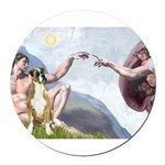 5.5x7.5-Creation-Boxer2nat Round Car Magnet
