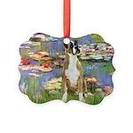 TILE-Lilies2-Boxer2-Nat Picture Ornament