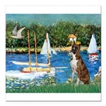 3-Sailboats-Boxer5-Brindle Square Car Magnet 3