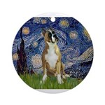 5.5x7.5-StarryNight-Boxer1up.png Ornament (Round)