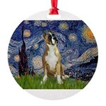 5.5x7.5-StarryNight-Boxer1up.png Round Ornament