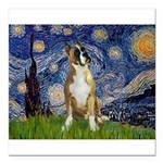 5.5x7.5-StarryNight-Boxer1up.png Square Car Magnet