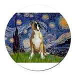 5.5x7.5-StarryNight-Boxer1up.png Round Car Magnet