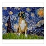 5.5x7.5-StarryNight-Boxer4-nat Square Car Magn