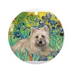 MP-IRISES-Cairn4-liedown Ornament (Round)