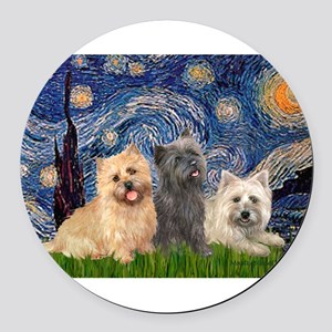 MP-STARRY-CairnTRIO-4-13-21 Round Car Magnet