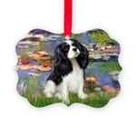 LILIES2-Cav-Tri52  Picture Ornament