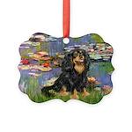 PILLOW-Lilies2-Blk-Tan Picture Ornament