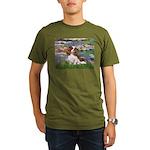 3-MP-LILIES 2-CAV2B Organic Men's T-Shirt (dar