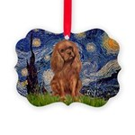 MP-STARRY-Cav-Ruby7 Picture Ornament