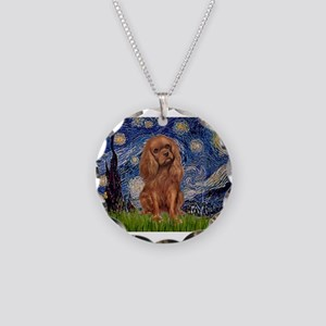 MP-STARRY-Cav-Ruby7 Necklace Circle Charm