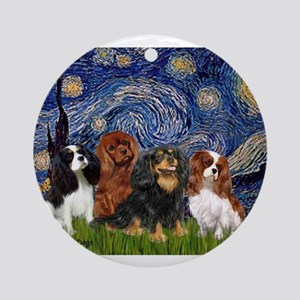 Starry-CavalierQUAD Ornament (Round)
