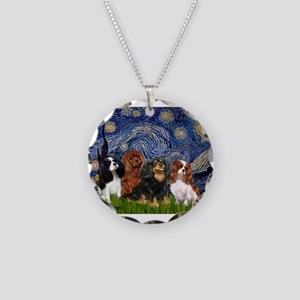 Starry-CavalierQUAD Necklace Circle Charm