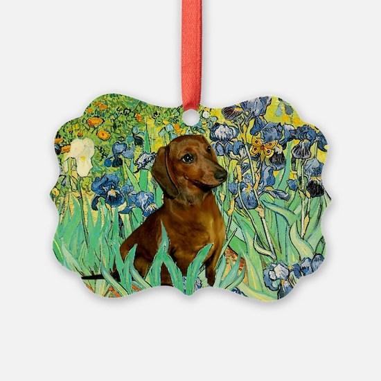 5.5x7.5-Irises-Dachs-Brwn1.png Ornament