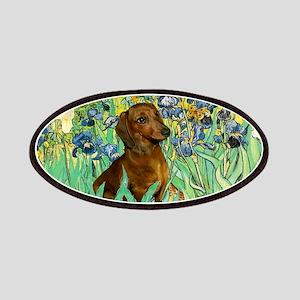 5.5x7.5-Irises-Dachs-Brwn1 Patches